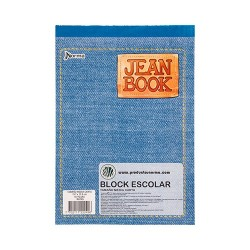 Block Escolar Jean Book 80 Cuadriculado Carta